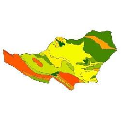 نقشه ی زمین شناسی شهرستان سلسله