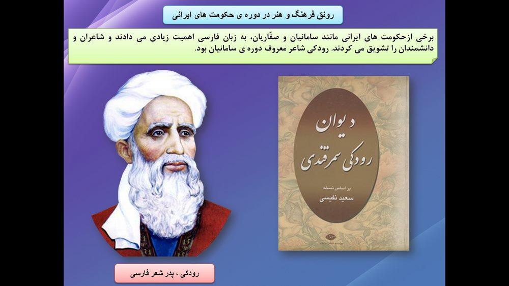 پاورپوینت آموزش درس نوزدهم کتاب مطالعات اجتماعی پنجم ابتدایی ( ایرانیان مسلمان حکومت تشکیل می دهند)